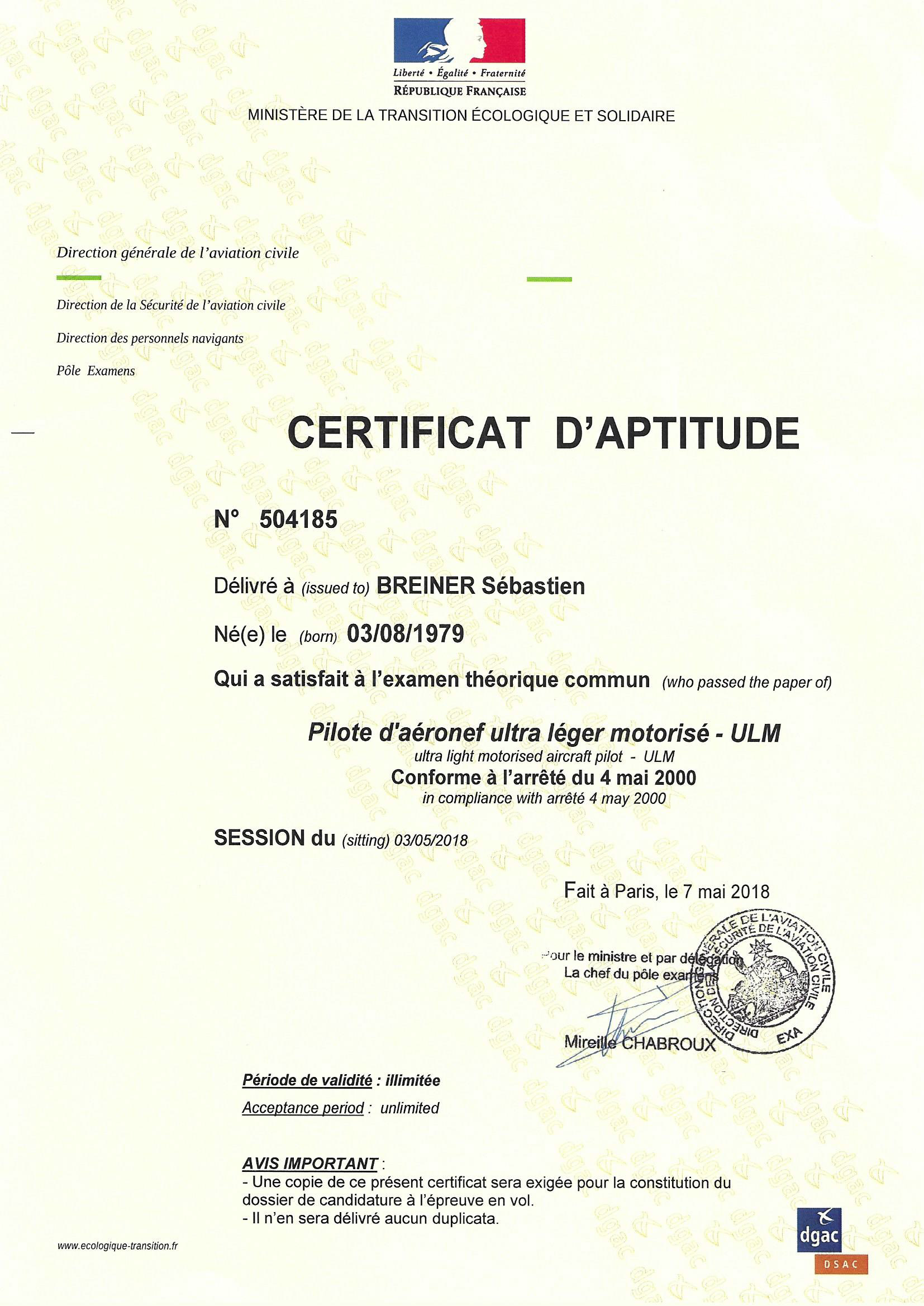 réglementation : certicat pilote de drone